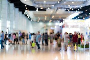 flou d'arrière-plan de l'image des personnes dans l'exposition photo