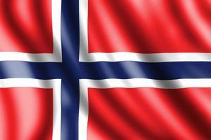 drapeau de la norvège, illustration réaliste photo