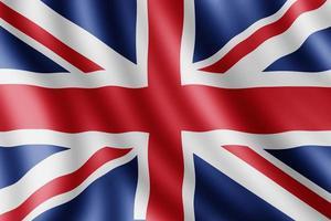 drapeau du royaume-uni, illustration réaliste photo
