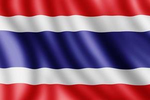 drapeau de la thaïlande, illustration réaliste photo