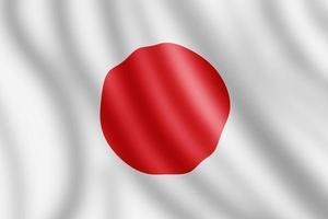 drapeau du japon, illustration réaliste photo