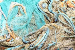 filet de pêche et corde photo