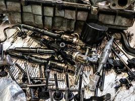 parties d'un moteur diesel à combustion interne photo