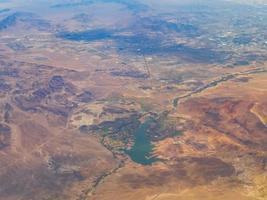 vue aérienne du lac las vegas au nevada photo