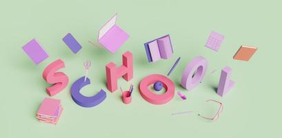 concept d'école isométrique photo