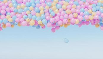 ballons dans le ciel photo