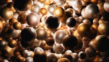 fond de sphères d'or photo