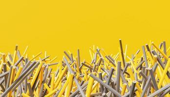 fond de crayons jaunes et gris photo