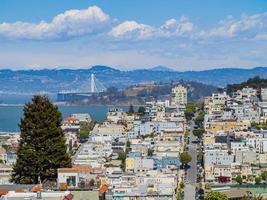 Quartier résidentiel de San Francisco, Californie, États-Unis photo