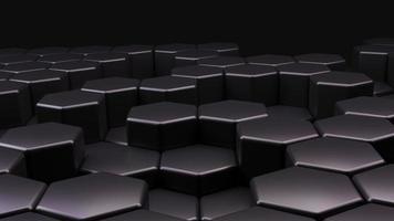 concept de technologie futuriste abstrait hexagone photo