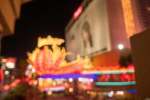 les rues de la ville de las vegas et les lumières effet défocalisé bokeh photo