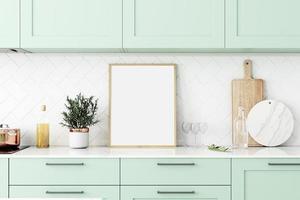 maquette de cadre de cuisine photo