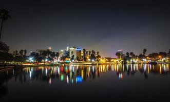 centre-ville de los angeles skyline at night photo