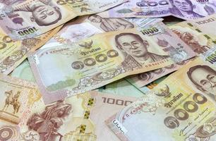 fond d'argent thaïlandais photo