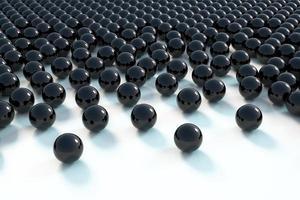 Rendu 3D de fond de sphère noire photo