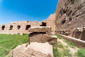 antiquité dans le temple de karnak sans personnes à luxur photo