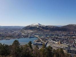 bergen du point de vue du mont floyen photo
