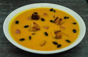 soupe de potiron d'hokkaido photo