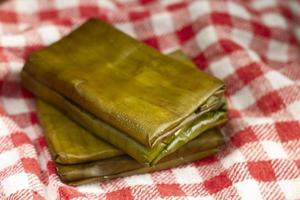 délicieux assortiment de plats traditionnels tamales photo