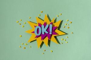 arrangement de bulle de discours de bande dessinée à plat. bulle de dialogue de bandes dessinées rétro photo