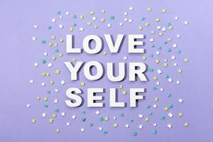 style de papier à lettres d'amour de soi photo