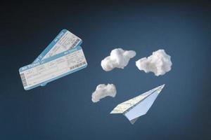 concept de voyage avec billets passeport photo