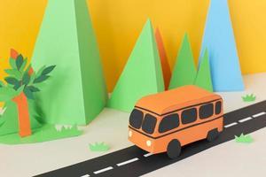 composition de style papier de transport urbain photo