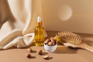 la composition naturelle d'huile d'argan photo