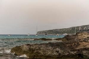 village de pêcheurs d'es calo de sant agusti sur l'île de formentera photo