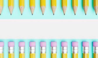 crayons avec copie espace photo