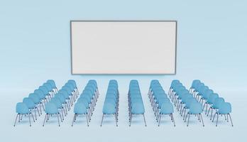 tableau blanc avec chaises photo
