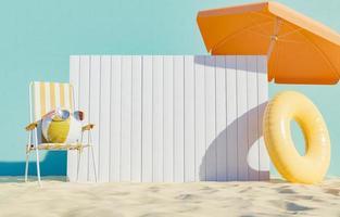 enseigne sur la plage photo