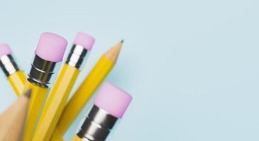 gros plan de crayons photo
