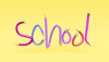 lettres au crayon avec le mot école photo