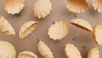 modèle de parapluies beiges photo