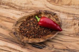 légume épicé au piment rouge photo