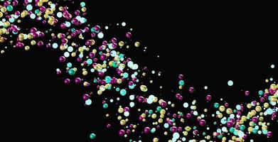 sphères aux couleurs vives photo
