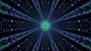 tunnel futuriste abstrait avec illustration 3d lumière 4k uhd photo