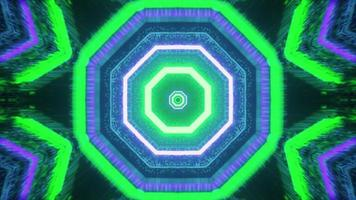 tunnel en forme d'octogone vif 4k uhd illustration 3d photo