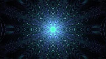tunnel géométrique sombre avec des lumières rougeoyantes illustration 3d uhd 4k photo