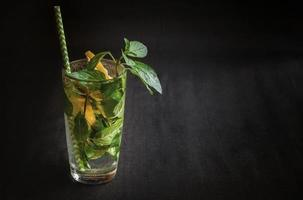 cocktail d'agrumes d'été mojito au citron et à la menthe. photo