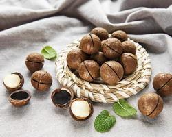 noix de macadamia bio photo