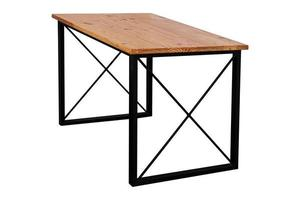 table en bois moderne avec pieds en acier. photo
