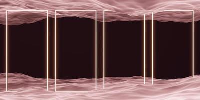 cadre carré et scène de studio de géométrie de surface de l'eau pour le produit photo
