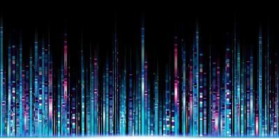 ligne de lumière abstraite lueur bleue led ligne motion technologie fond photo