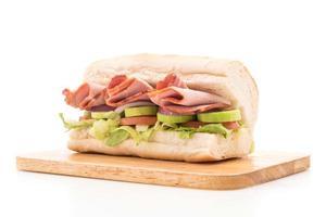 sandwich sous-marin jambon et salade photo