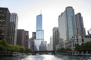Le centre-ville de Chicago au crépuscule 2017 photo