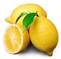 fruit de citron frais isolé photo