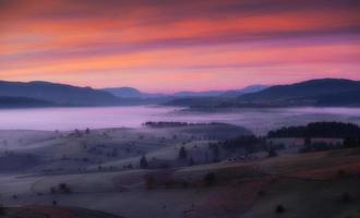 prairie spacieuse au petit matin photo