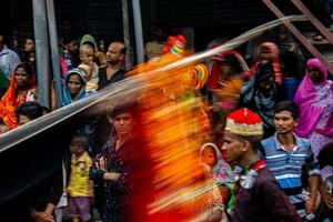 dhaka, bangladesh, sept. 10, 2019 - musulmans chiites dans une procession de deuil photo